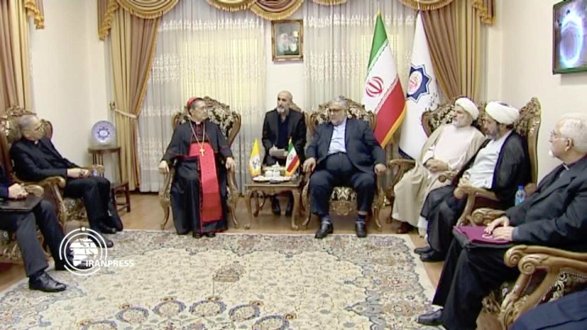 Card. Ayuso Guixot, Dialogue interreligieux à Teheran, capture @ media.iranpress.com