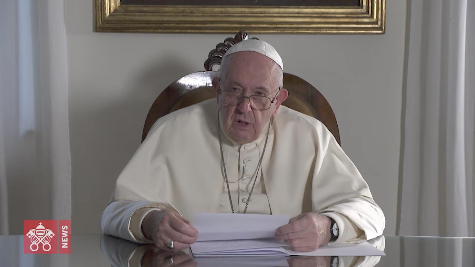 Message pour le voyage au Japon, capture @ Vatican Media