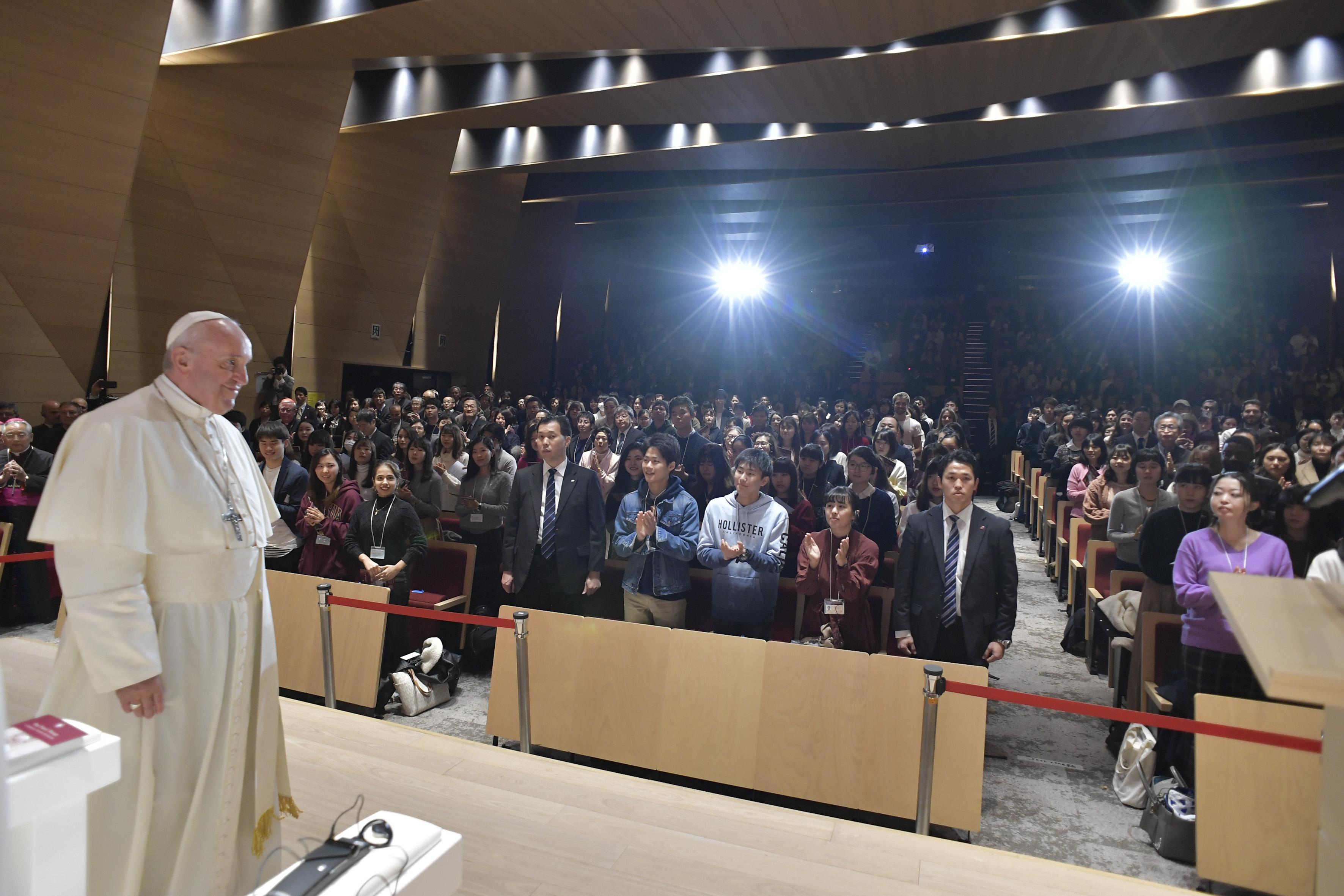 Université Sophia, Tokyo, Japon, 26 novembre 2019 © Vatican Media
