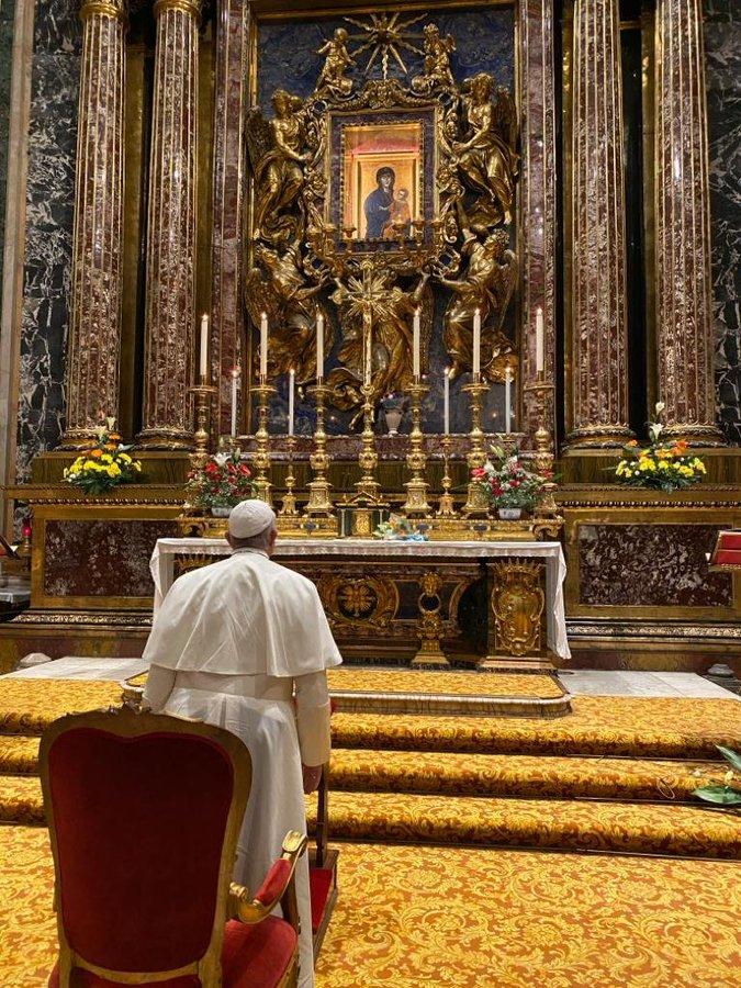 Pèlerinage à Sainte-Marie-Majeure, 26 nov. 2019 © Vatican Press Office