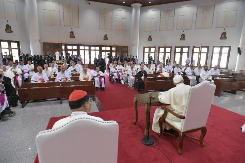 Rencontre avec les évêques d'Asie, Bangkok, Thaïlande © Vatican Media