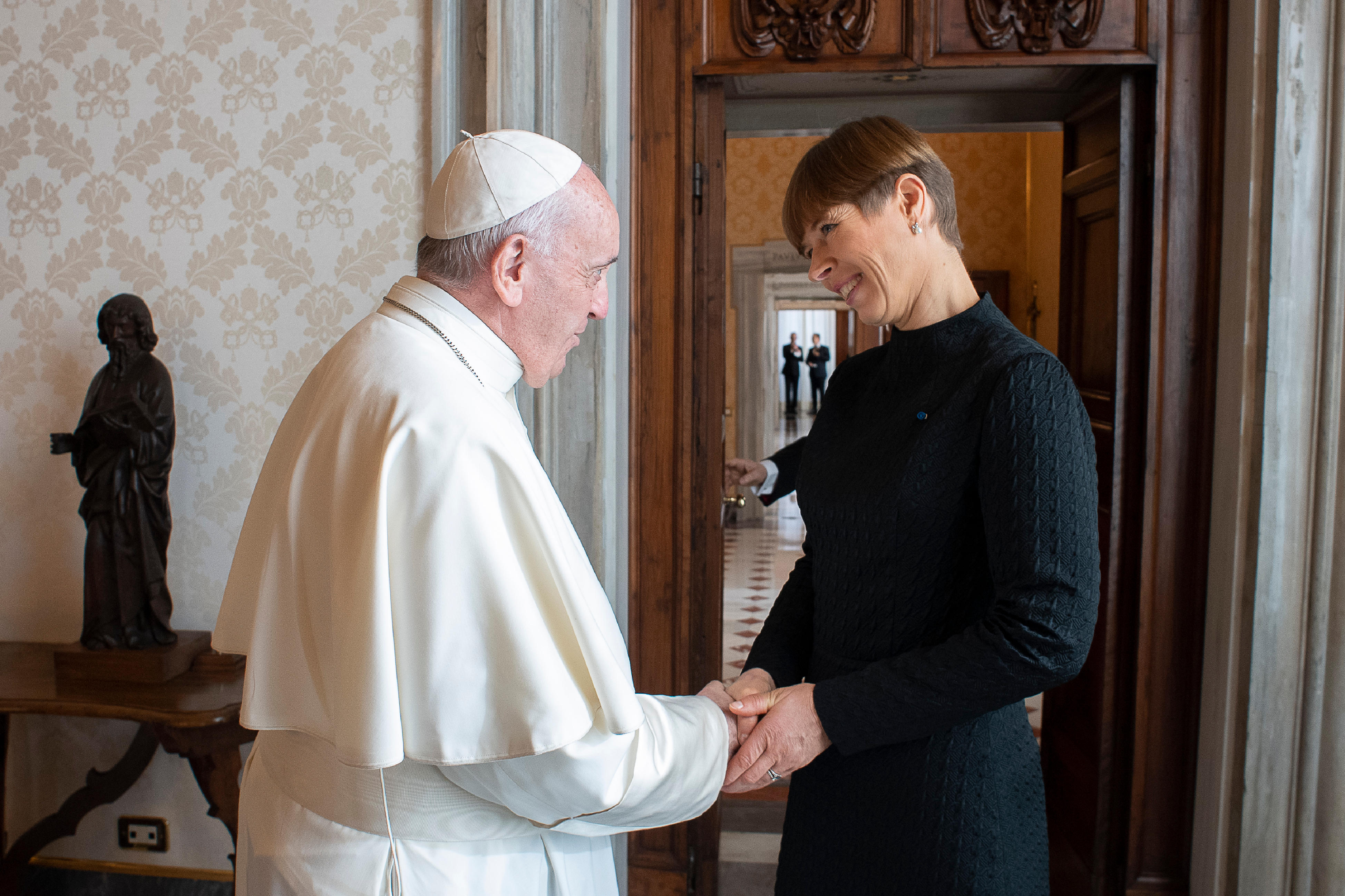 Kersti Kaljulaid, présidente de la République d'Estonie © Vatican Media