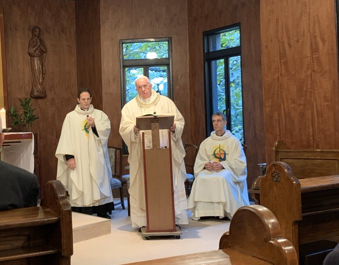 Messe avec les jésuites à Tokyo, Sophia © p. Antonio Spadaro SJ