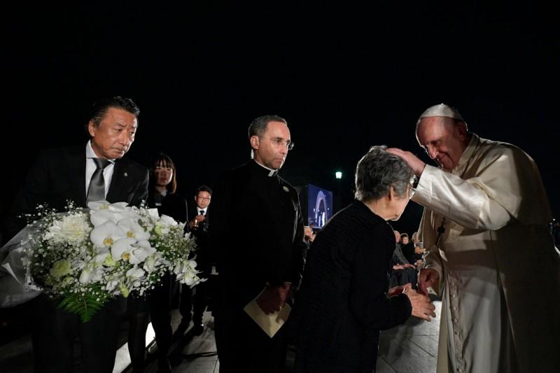 Mémorial de la paix, Hiroshima, Japon, 24 novembre 2019 © Vatican Media