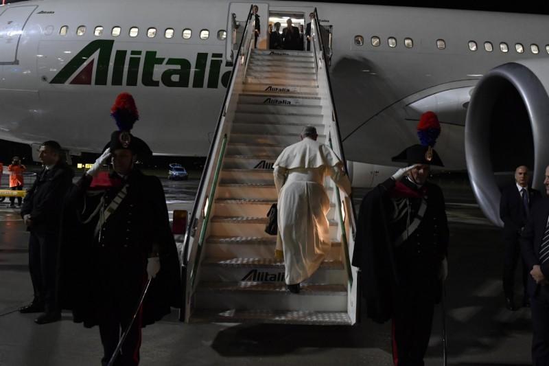 Vol Rome-Bangkok, voyage en Thaïlande et au Japon © Vatican Media