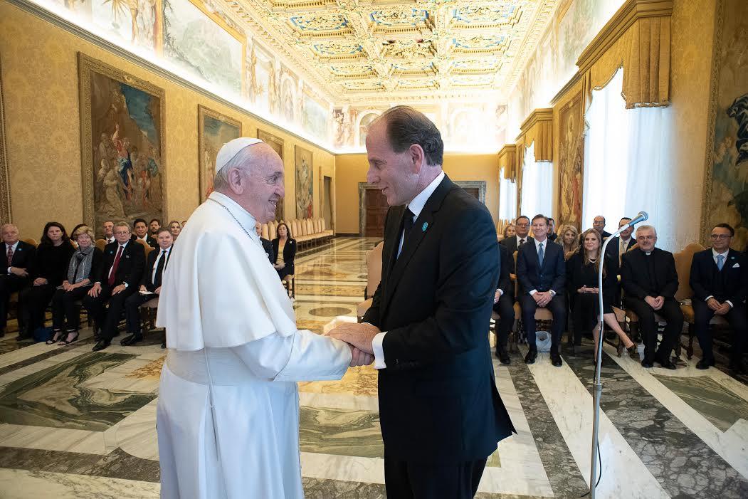 """Guy Chiarello, """"A Chance in Life"""" © Vatican Media"""