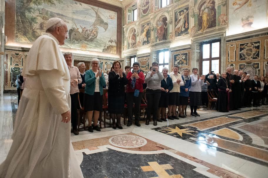 Auxiliaires diocésaines de Milan et collaboratrices apostoliques diocésaines de Trévise et Padoue © Vatican Media