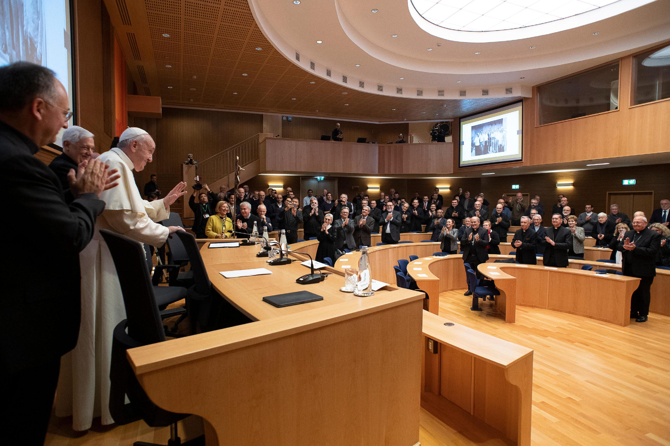 """Présentation des """"Escritos"""" du p. Fiorito © Vatican Media"""
