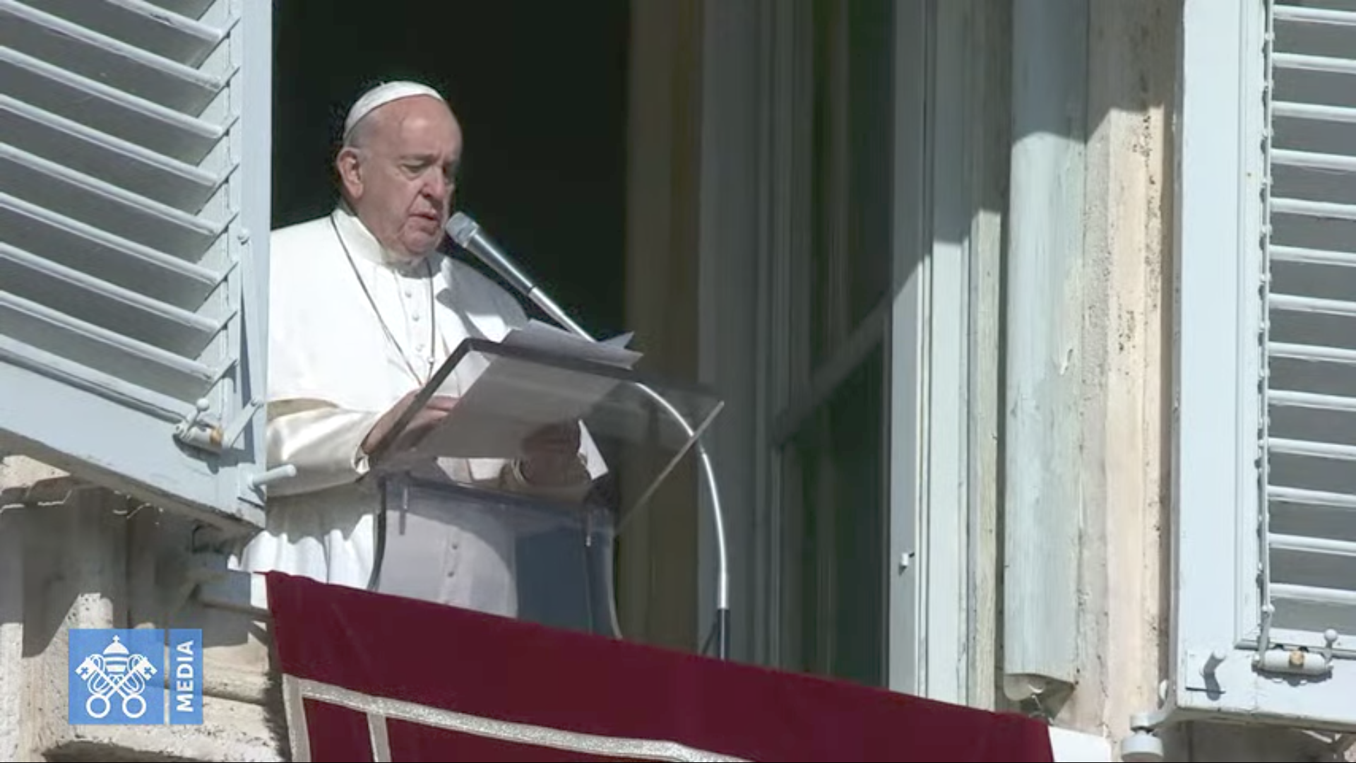 Angélus, 1er déc. 2019, capture @Vatican Media