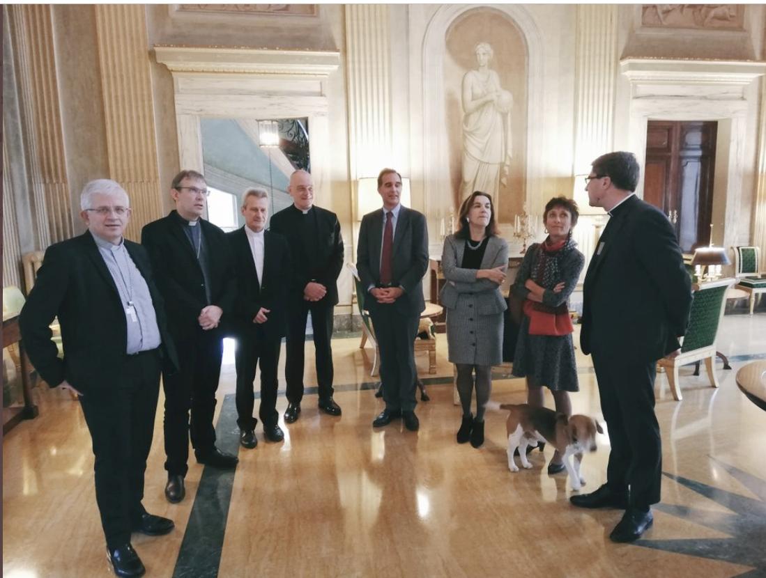 La présidence de la CEF à la Villa Bonaparte @FranceauVatican