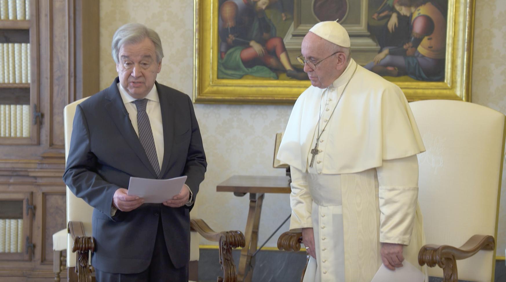 M. Antonio Guterres, capture @Vatican Media