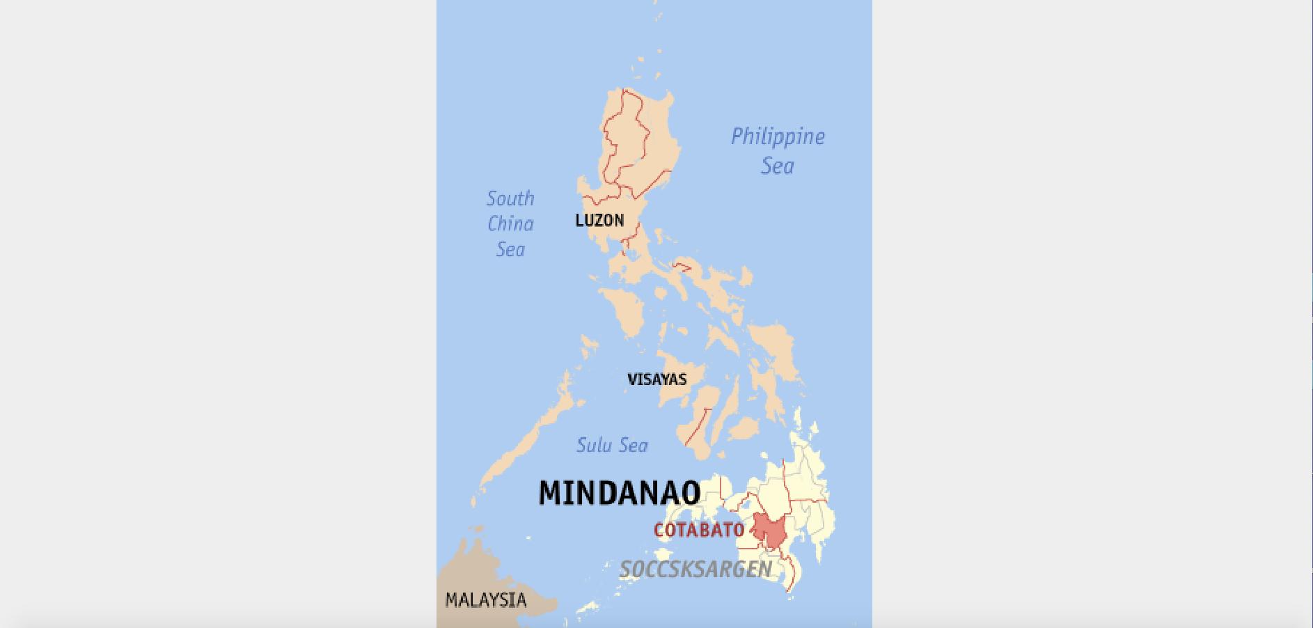 Carte de Mindanao @wikipedia / Eugene Alvin Villar (seav)