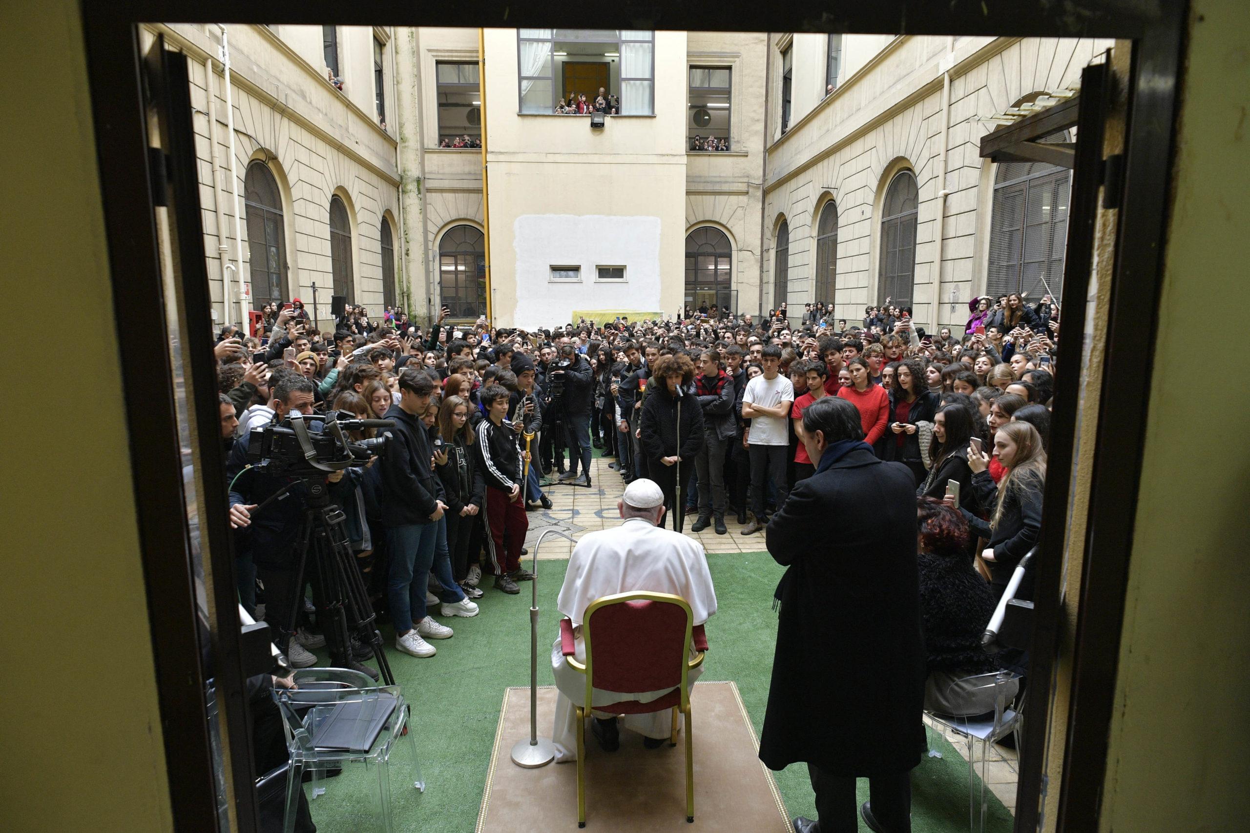 Lycée Pilo Albertelli de Rome © Vatican Media