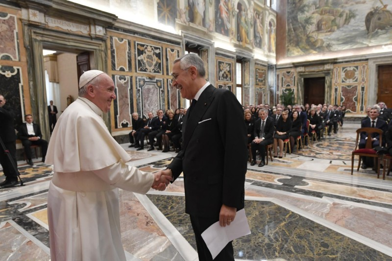 Caisse nationale italienne des Notaires © Vatican Media