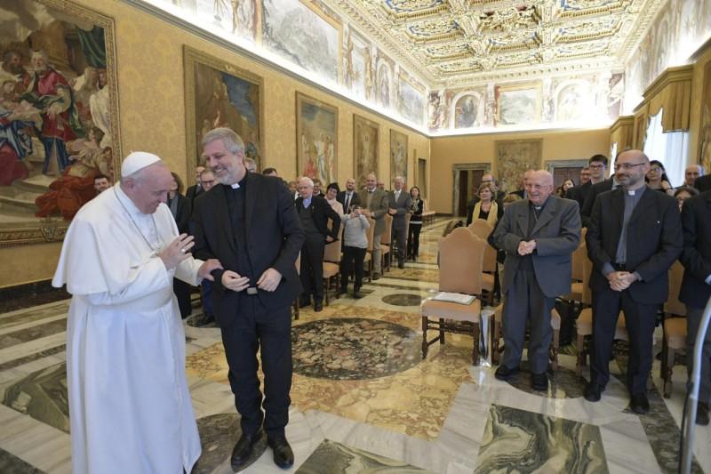 Collaborateurs du magazine « Aggiornamenti Sociali » © Vatican Media