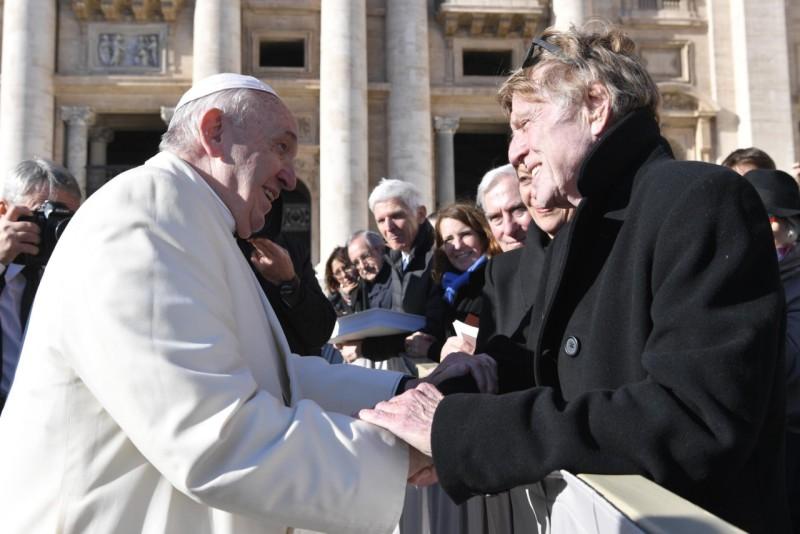 Rencontre avec R. Redford © Vatican Media