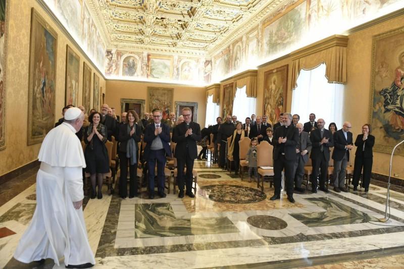 Collaborateurs du magazine «Aggiornamenti Sociali» © Vatican Media
