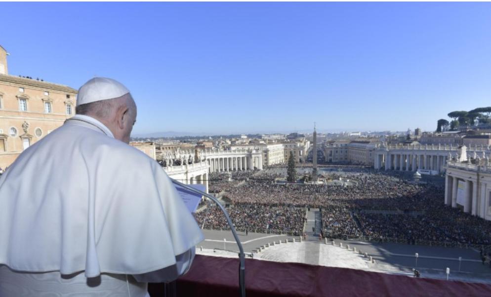 Bénédiction Urbi et Orbi de Noël, 25 décembre 2019 © Vatican Media