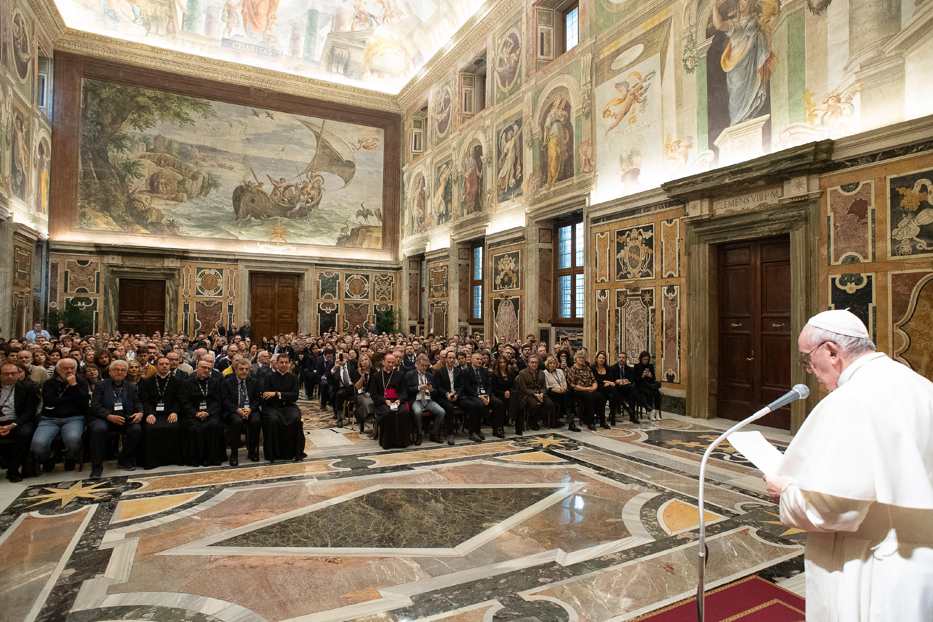 Association de cinéma, 7 décembre 2019 © Vatican Media