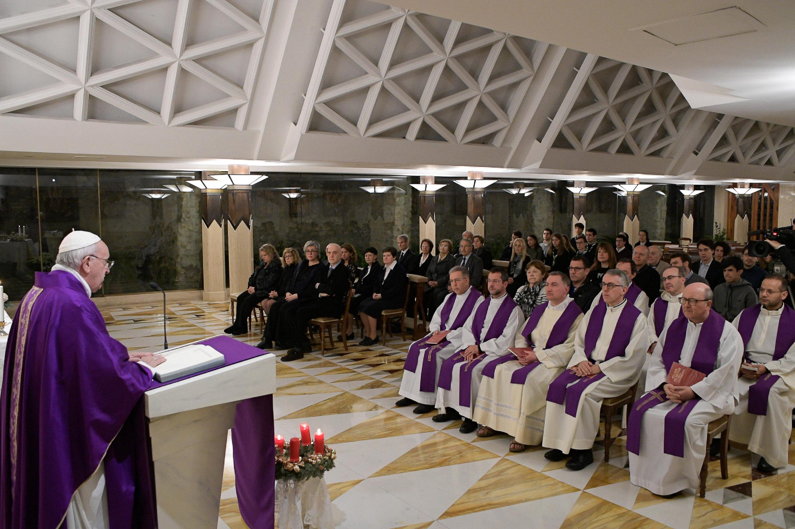 Messe à Sainte-Marthe, 16 décembre 2019 © Vatican Media