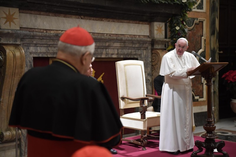 Discours à la Curie romaine, Noël 2019 © Vatican Media