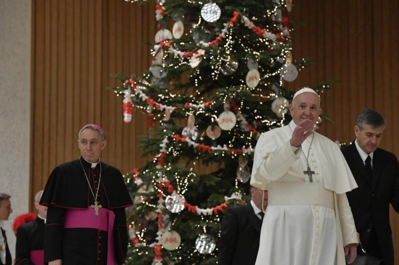 Voeux de Noël aux employés du Vatican, 21 décembre 2019 © Vatican Media