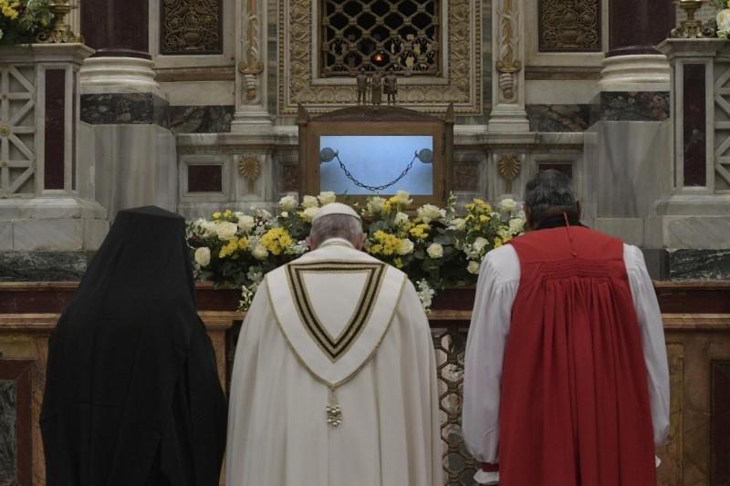 Basilique Saint-Paul-hors-les-Murs, vêpres du 25 janvier 2020 © Vatican Media