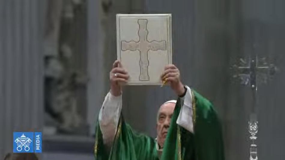 Evangile, Premier Dimanche de la Parole, 26 janvier 2020, capture Vatican Media