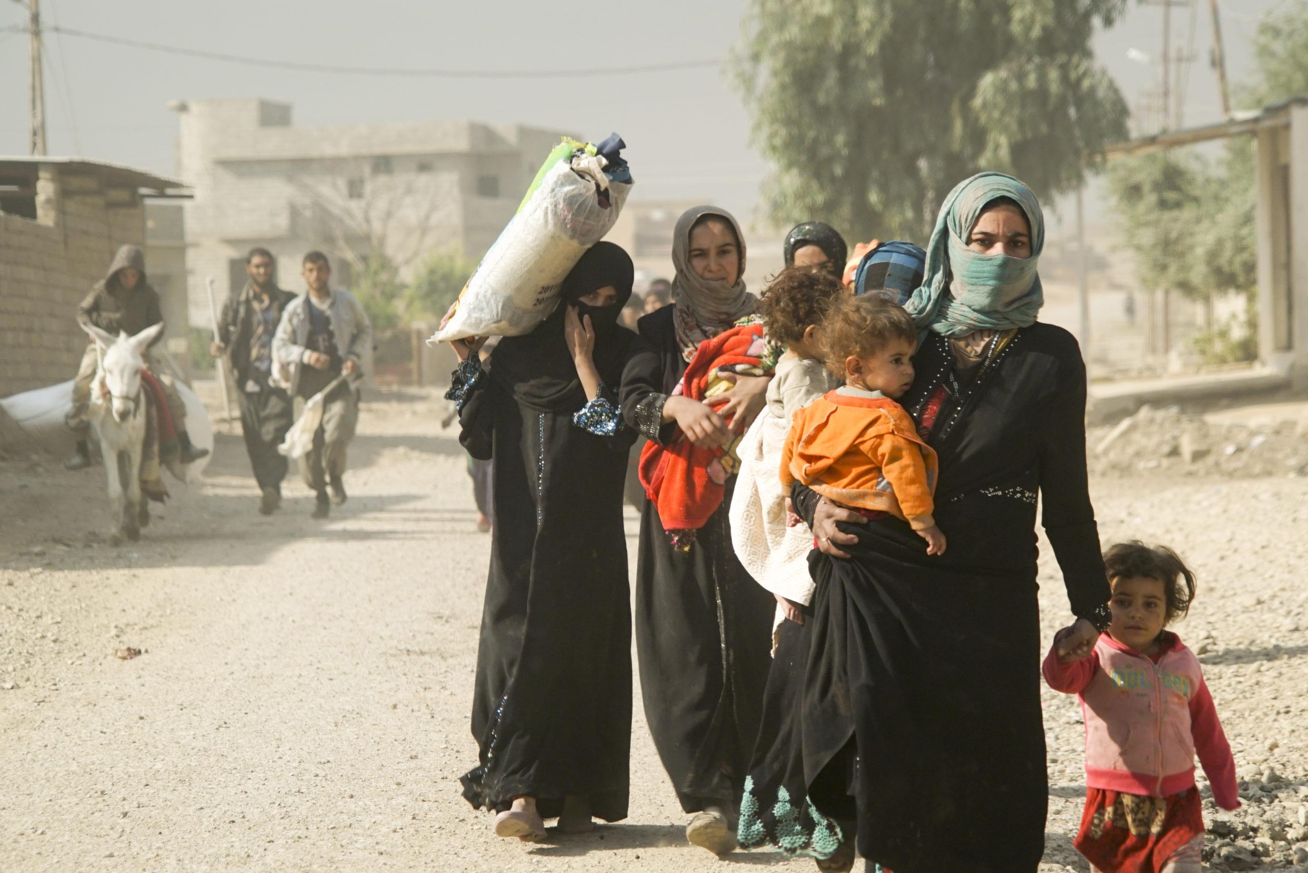 Réfugiés, Mossoul (Irak) @ wikimedia commons / Mstyslav Chernov