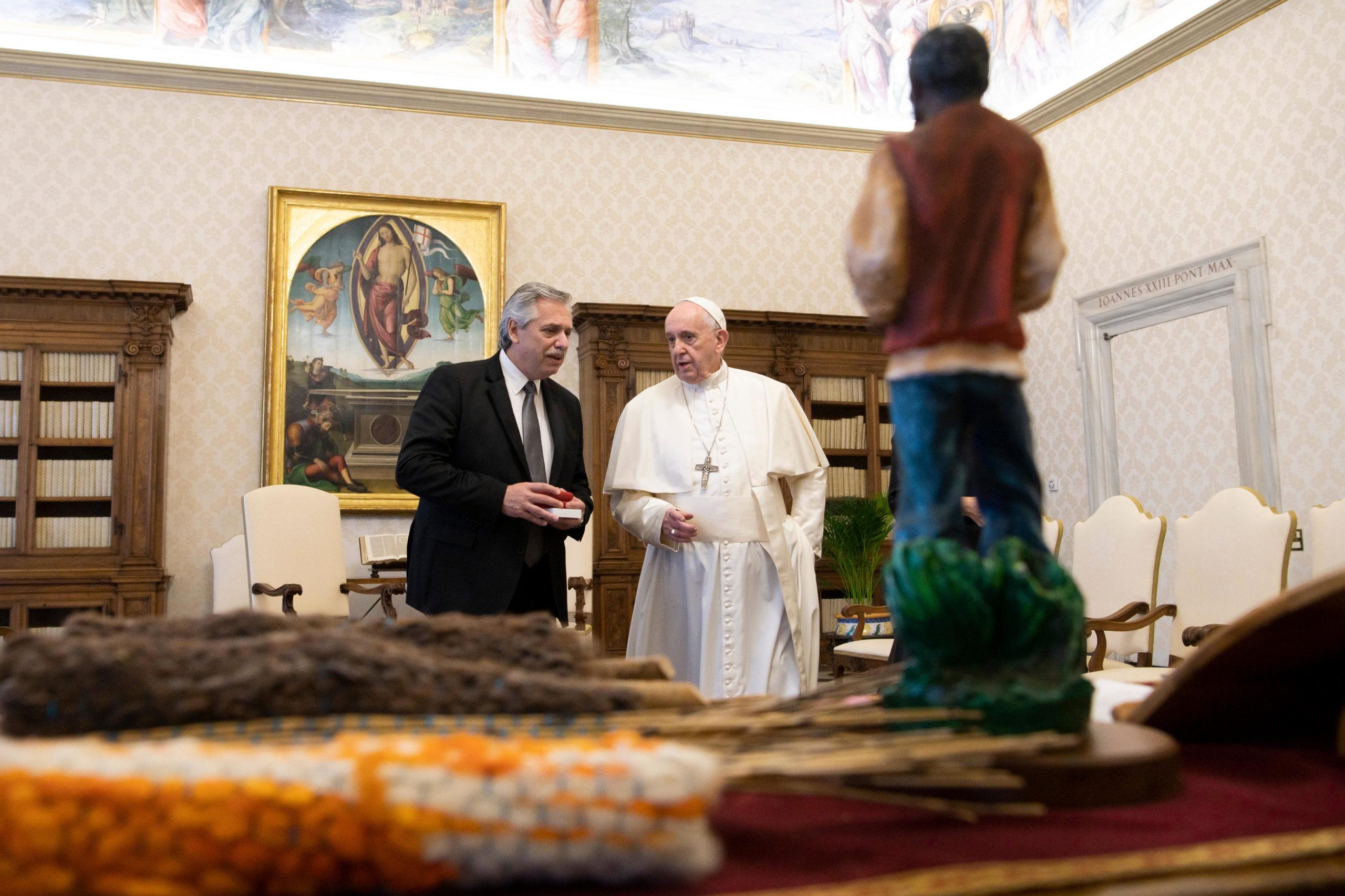 Président de l'Argentine Alberto Fernández, 31 janvier 2020 © Vatican Media