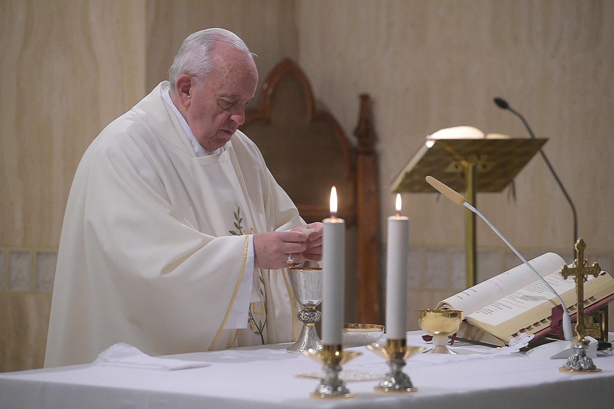 Sainte-Marthe, messe du 31 janvier 2020 © Vatican Media