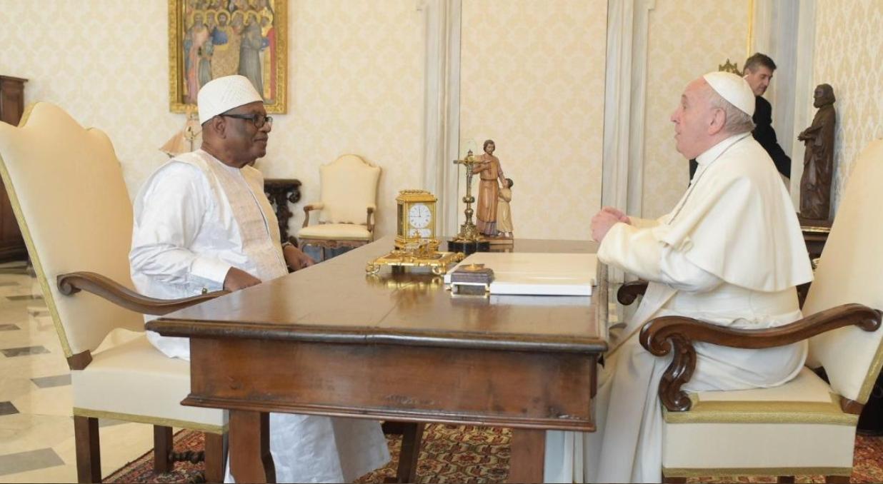 Ibrahim Boubacar Keïta, président du Mali © Vatican Media