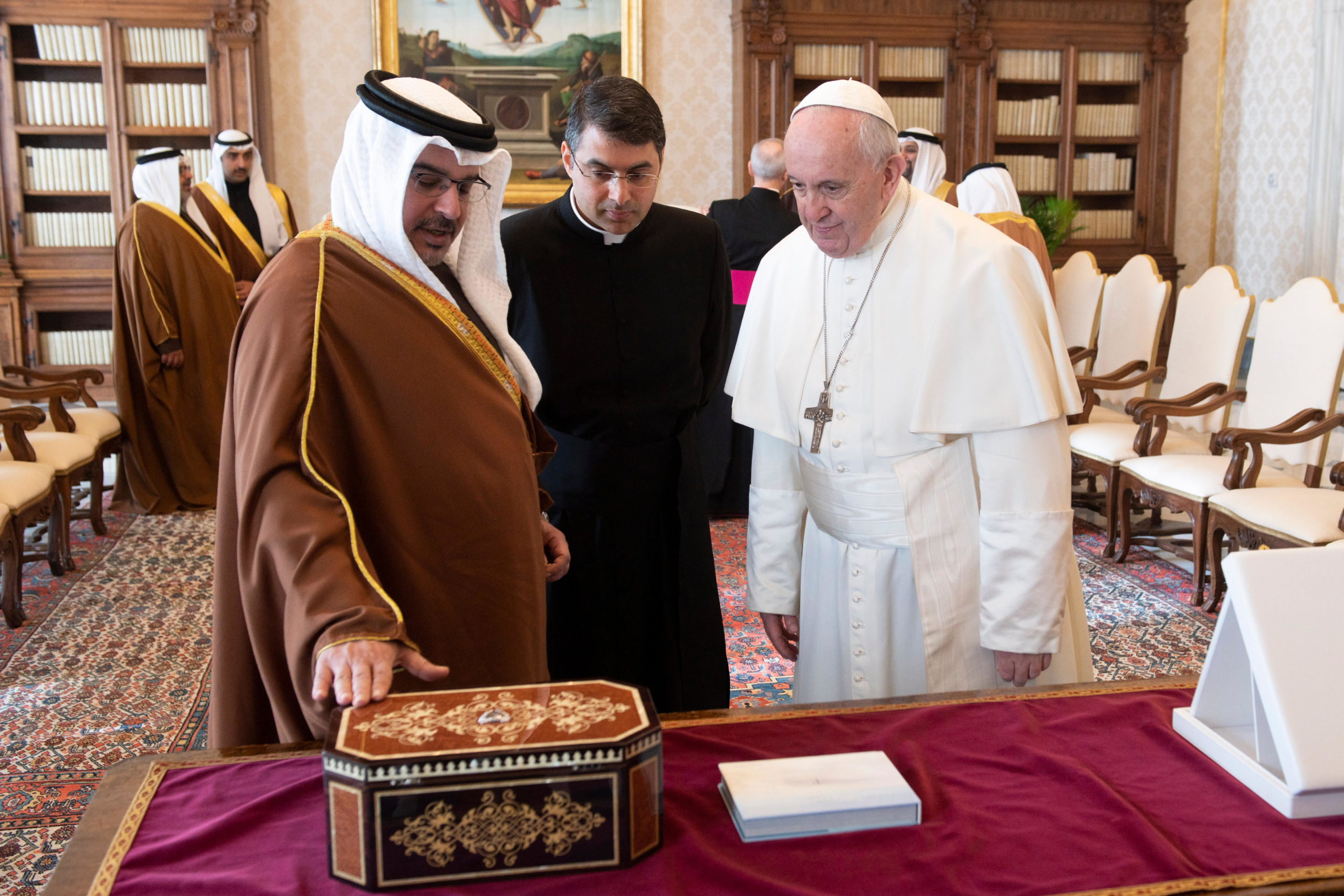 Prince Salman ben Hamad Al Khalifa du Bahrein © Vatican Media