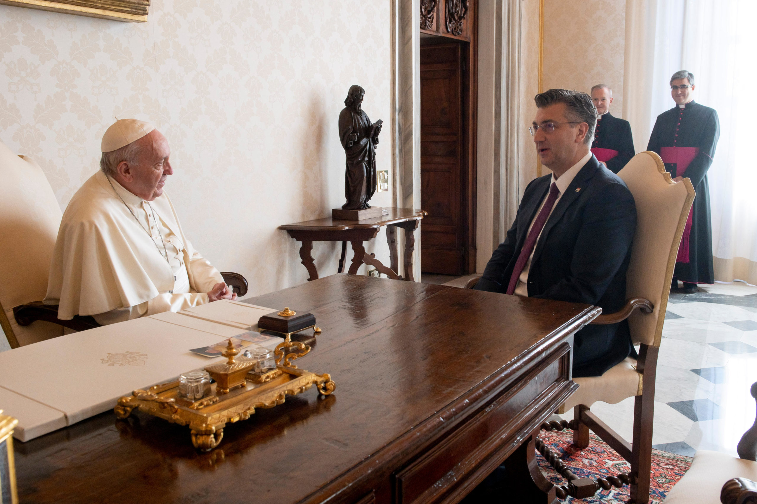 Premier ministre croatie Andrej Plenkovic © Vatican Media