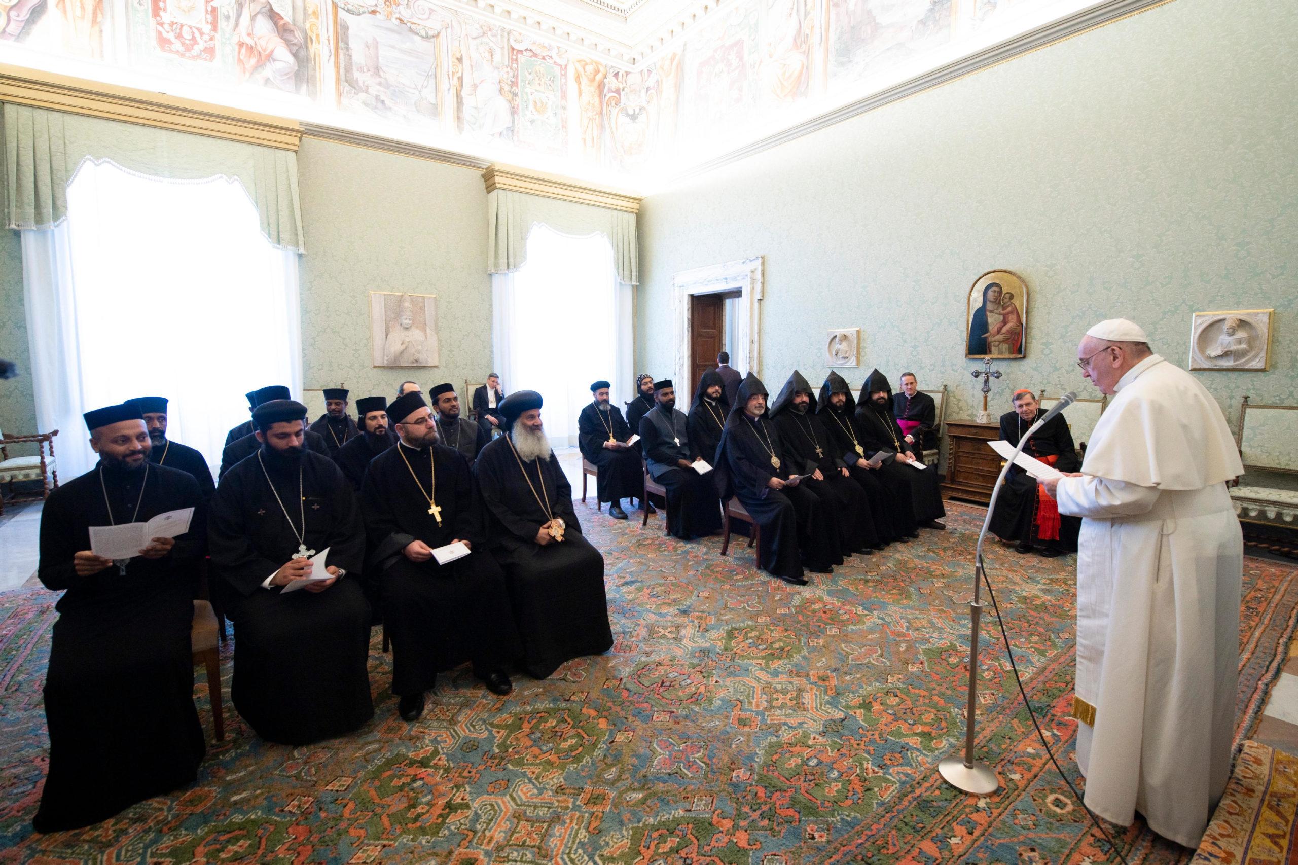 Délégation de prêtres orthodoxes, 21 février 2020 © Vatican Media