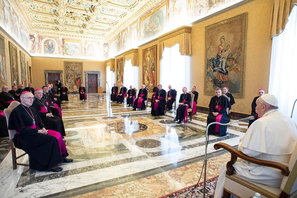 Ad limina des évêques de France (Grand Ouest) © Vatican Media