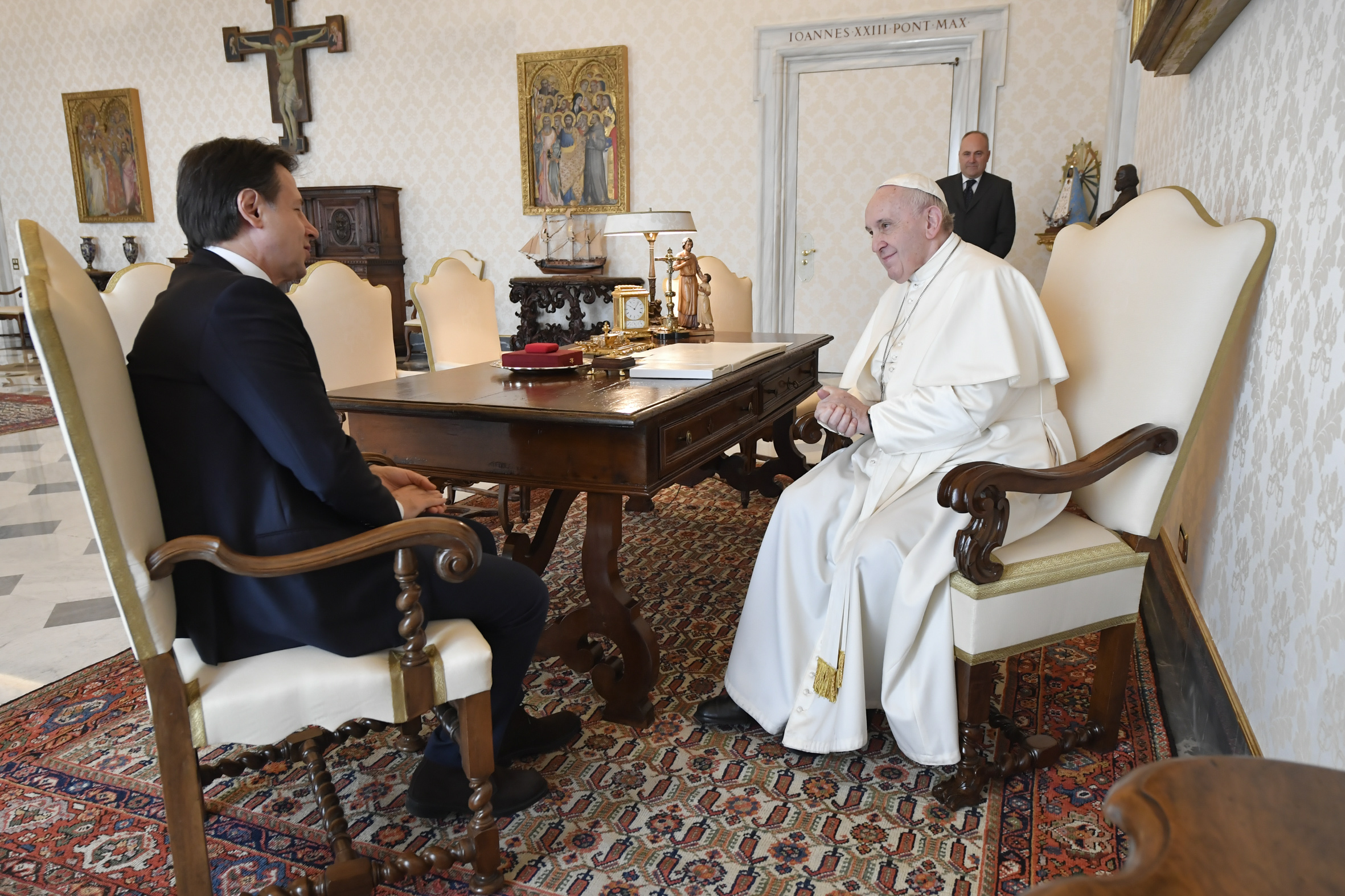 Premier ministre italien Giuseppe Conte © Vatican Media
