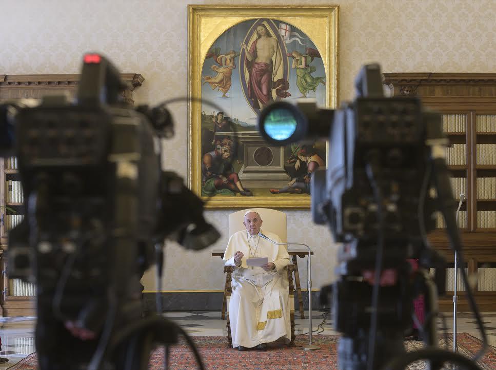 Audience générale du 25 mars 2020 © Vatican Media