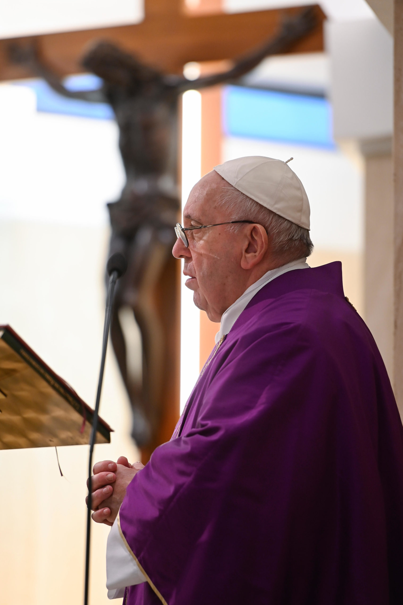 Messe à Sainte-Marthe, 16 mars 2020 ©Vatican Media