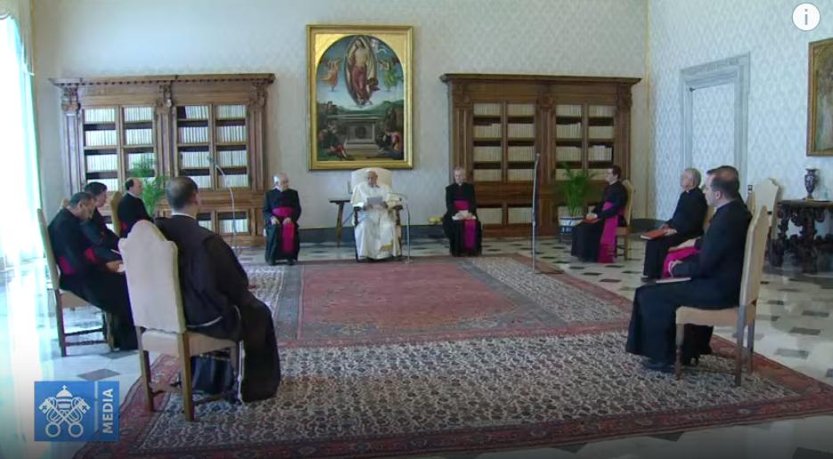 Audience générale du 18 mars 2020, capture Vatican Media