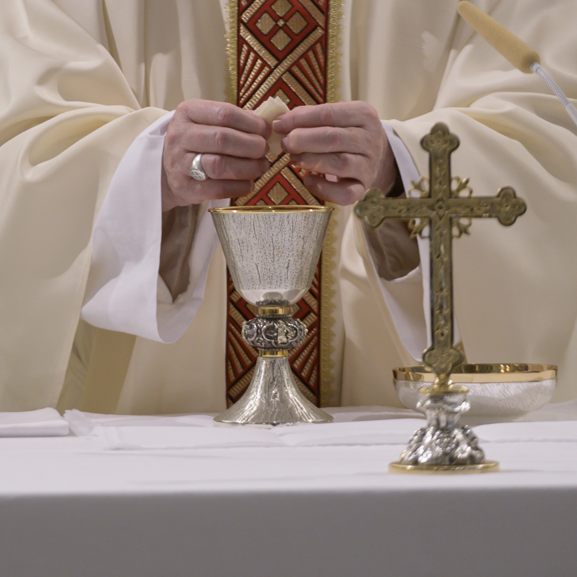 Messe à Sainte-Marthe, 28 avril 2020 © Vatican Media