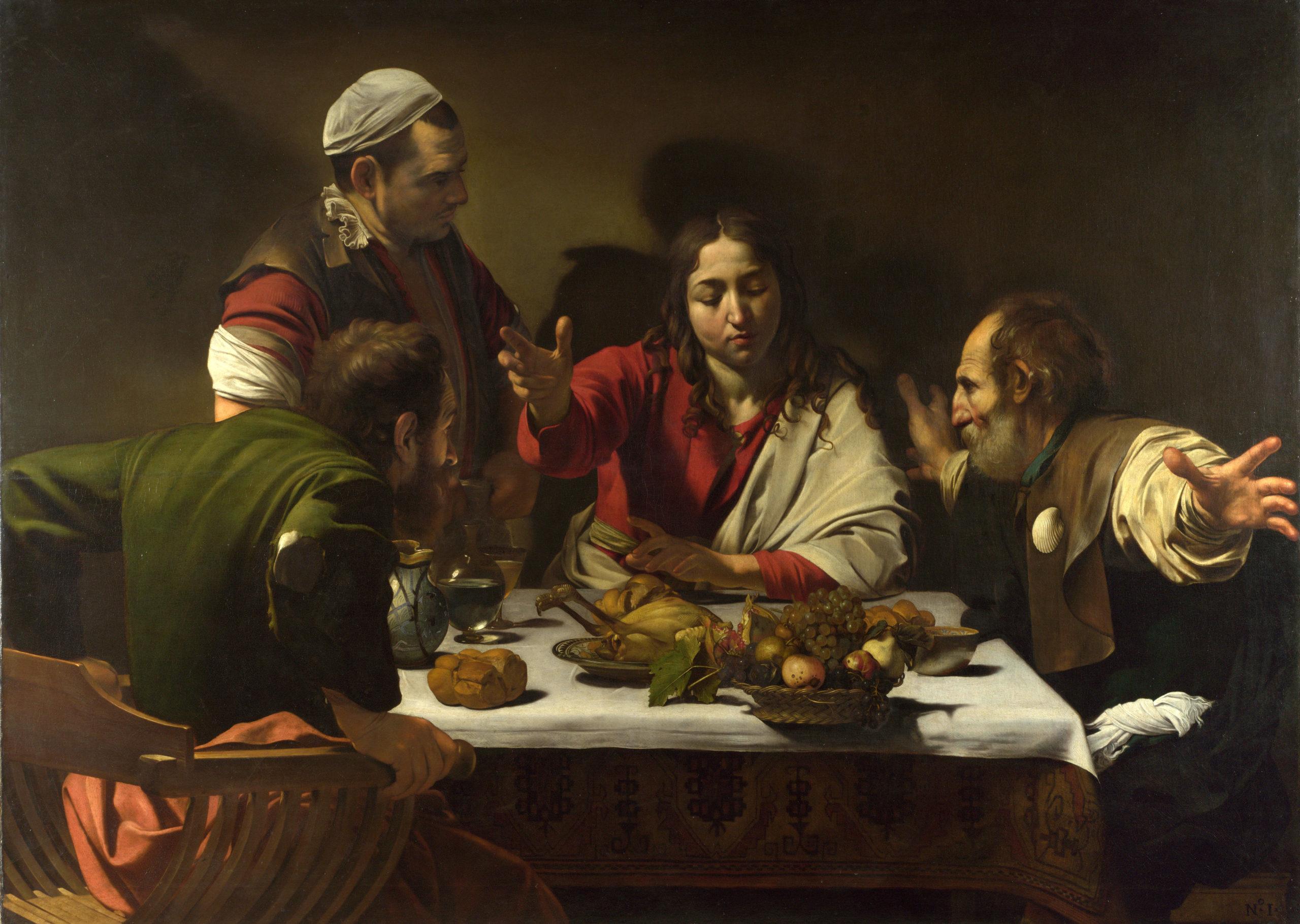 Disciples d'Emmaüs, Le Caravage (National Gallery, Londres)