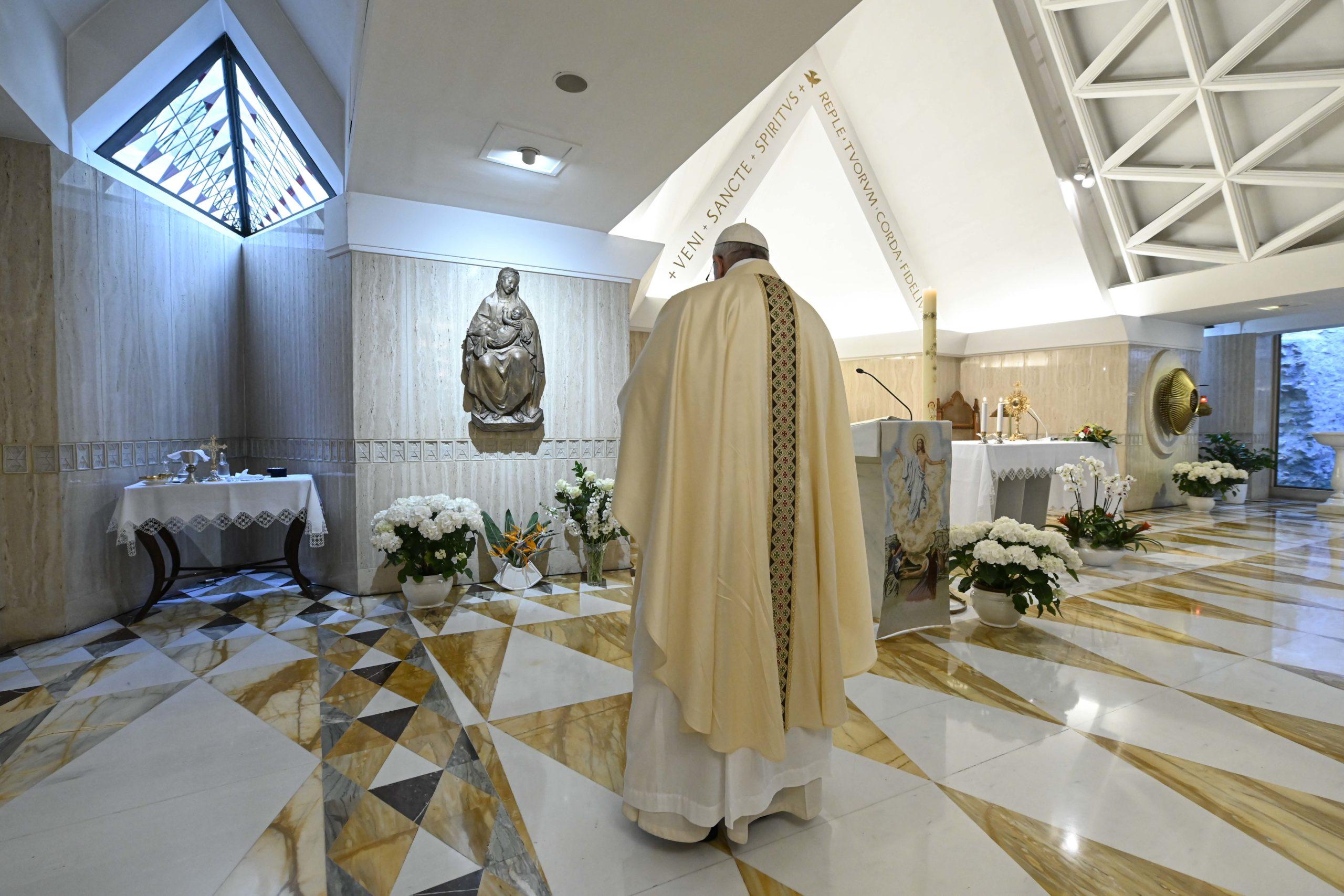 Messe à Sainte-Marthe, 23 avril 2020 © Vatican Media