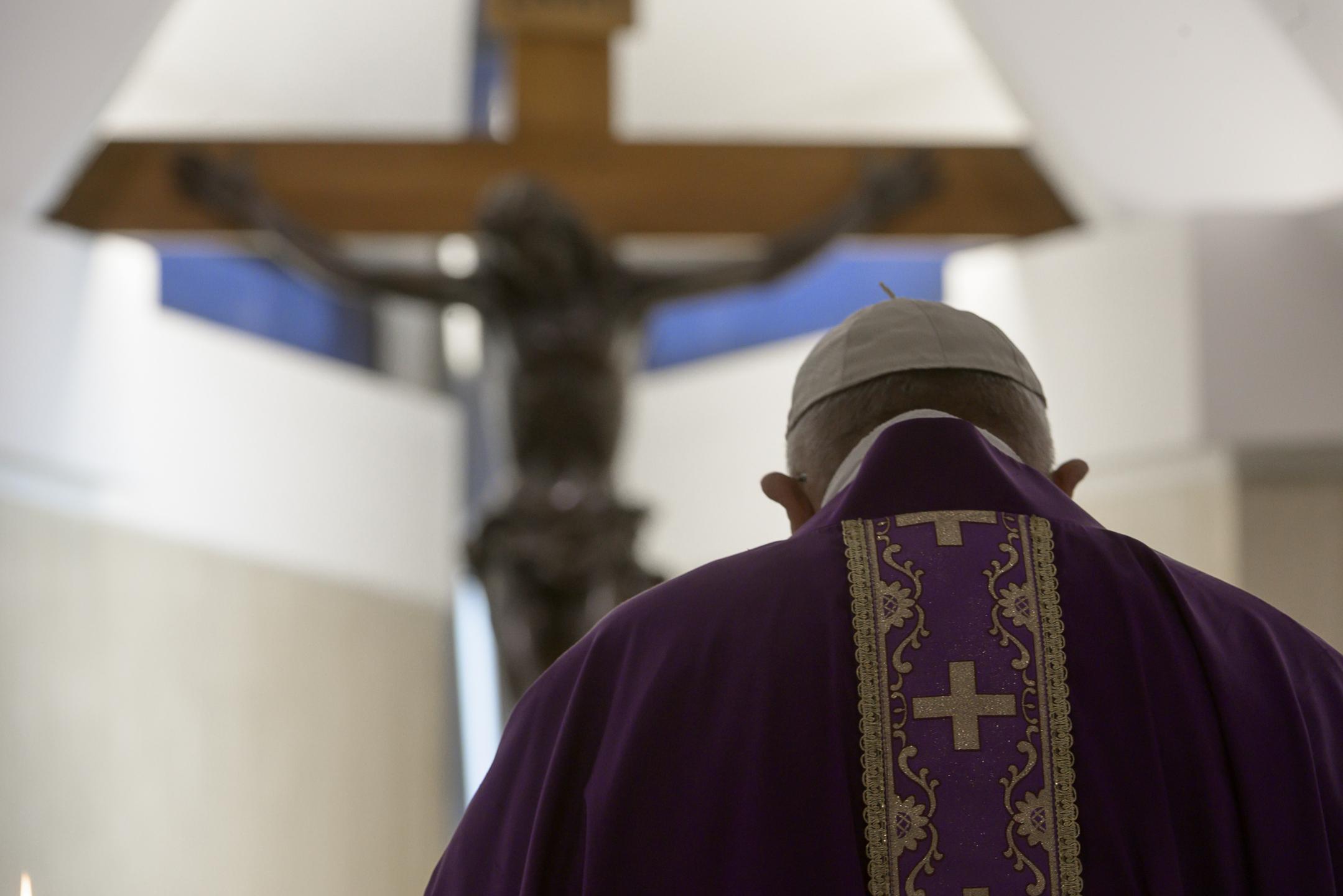 Sainte-Marthe, messe du 4 avril 2020 © Vatican Media