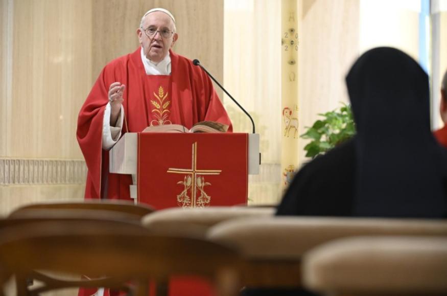 Messe à Sainte-Marthe, 25 avril 2020 © Vatican Media