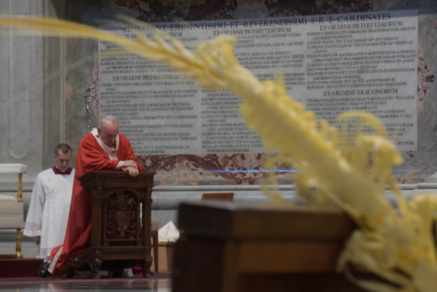 Dimanche des Rameaux, 5 avril 2020 © Vatican Media
