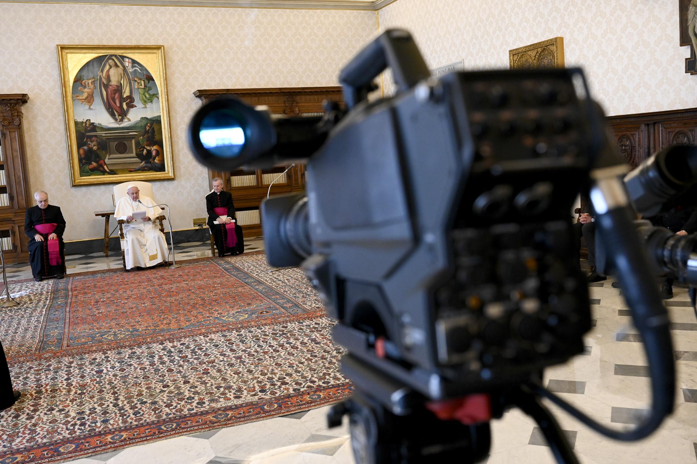 Audience générale du 1er avril 2020 © Vatican Media