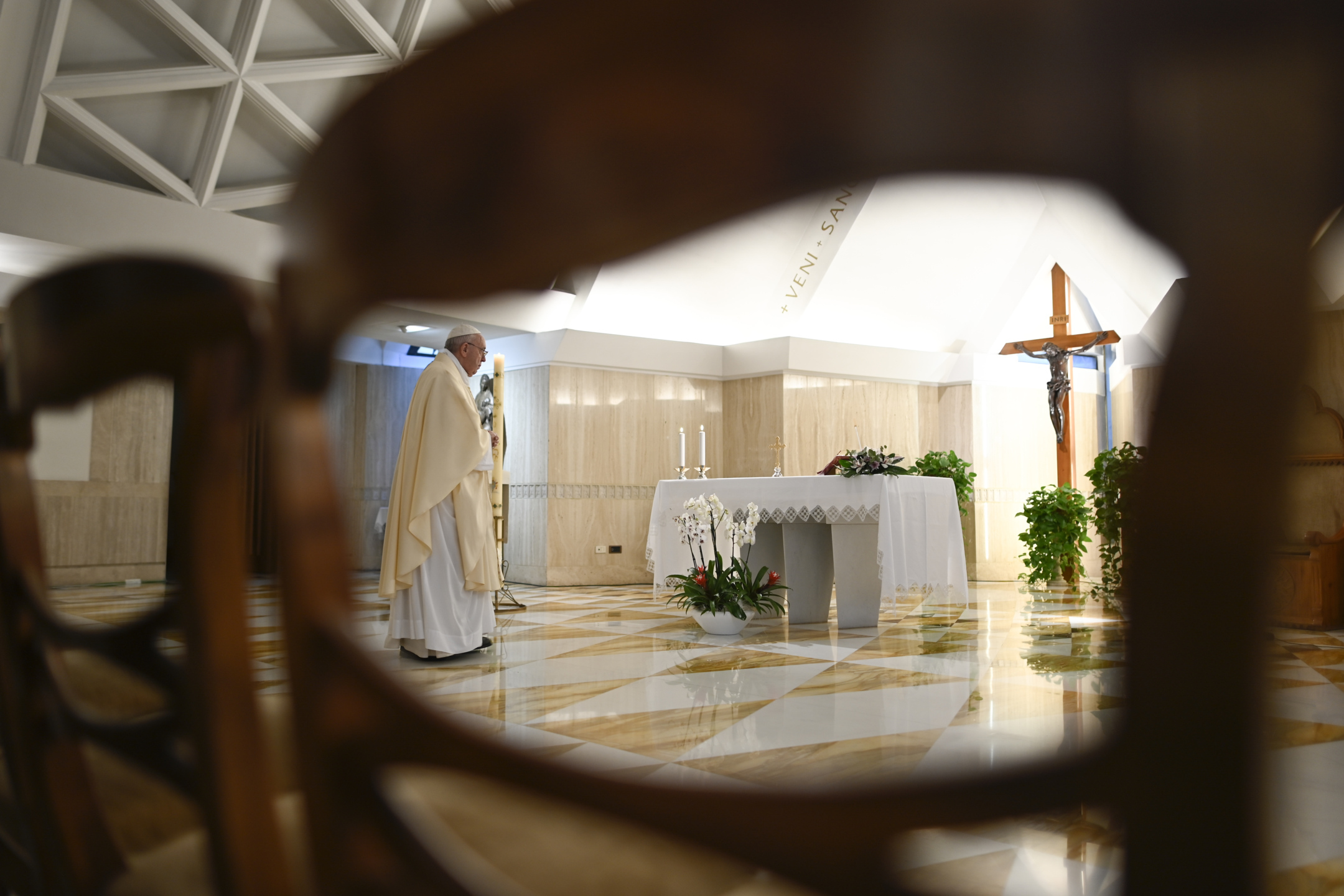 Messe à Sainte-Marthe, 29 avril 2020 © Vatican Media