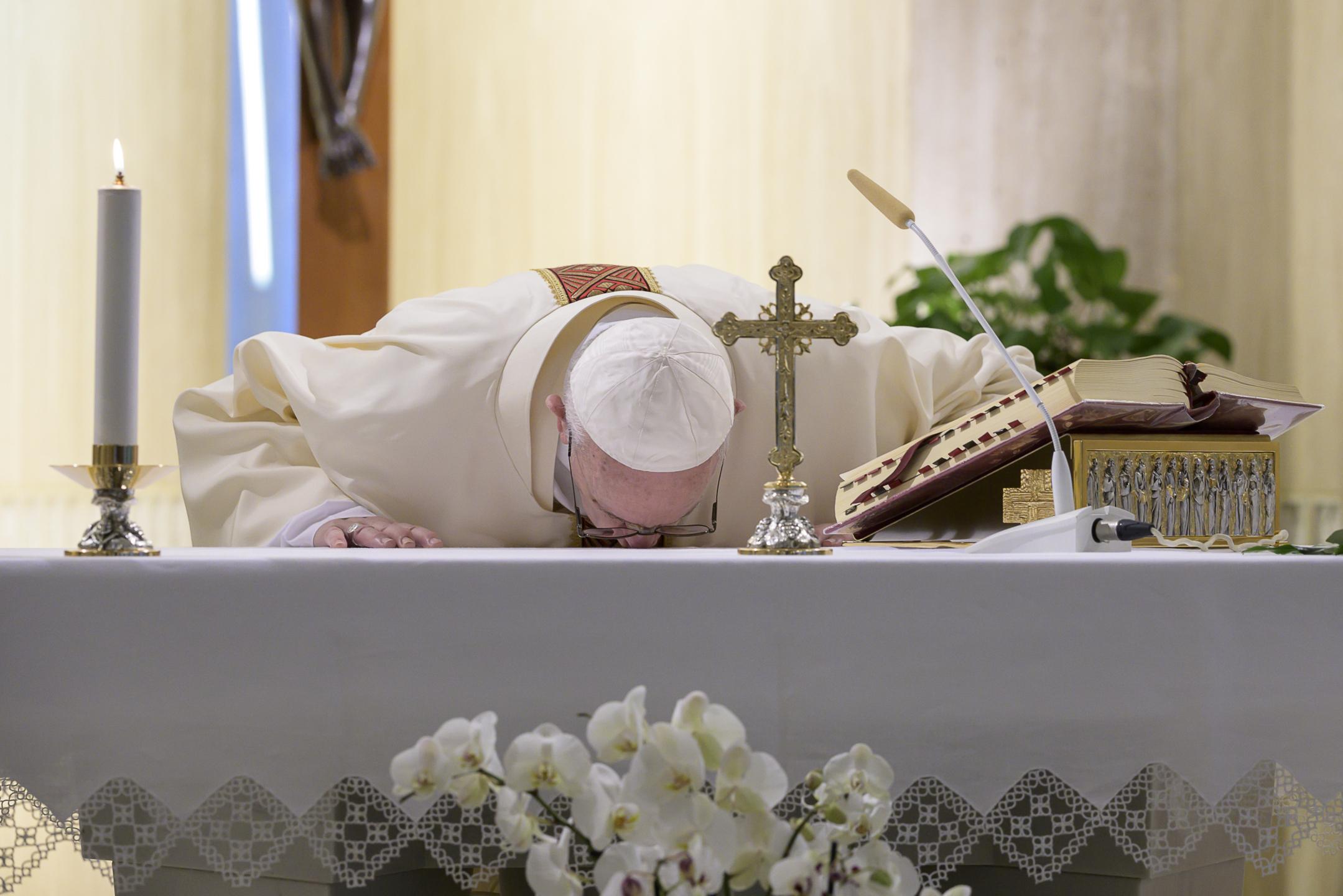 Messe à Sainte Marthe, 30 avril 2020, © Médias du Vatican