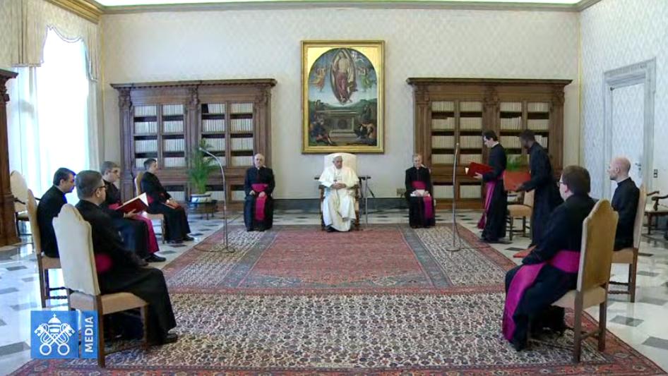 Audience générale du Mercredi Saint, 8 avril 2020, capture Vatican Media